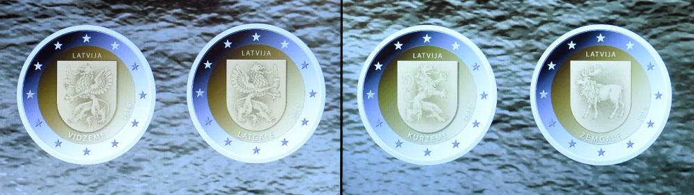 2 eiro monēta vidzeme kurzeme zemgale latgale