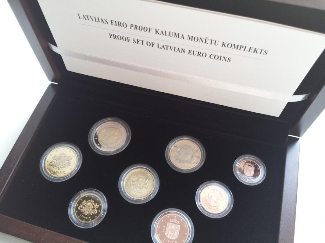 Latvijas eiro proof kaluma monētu komplekts