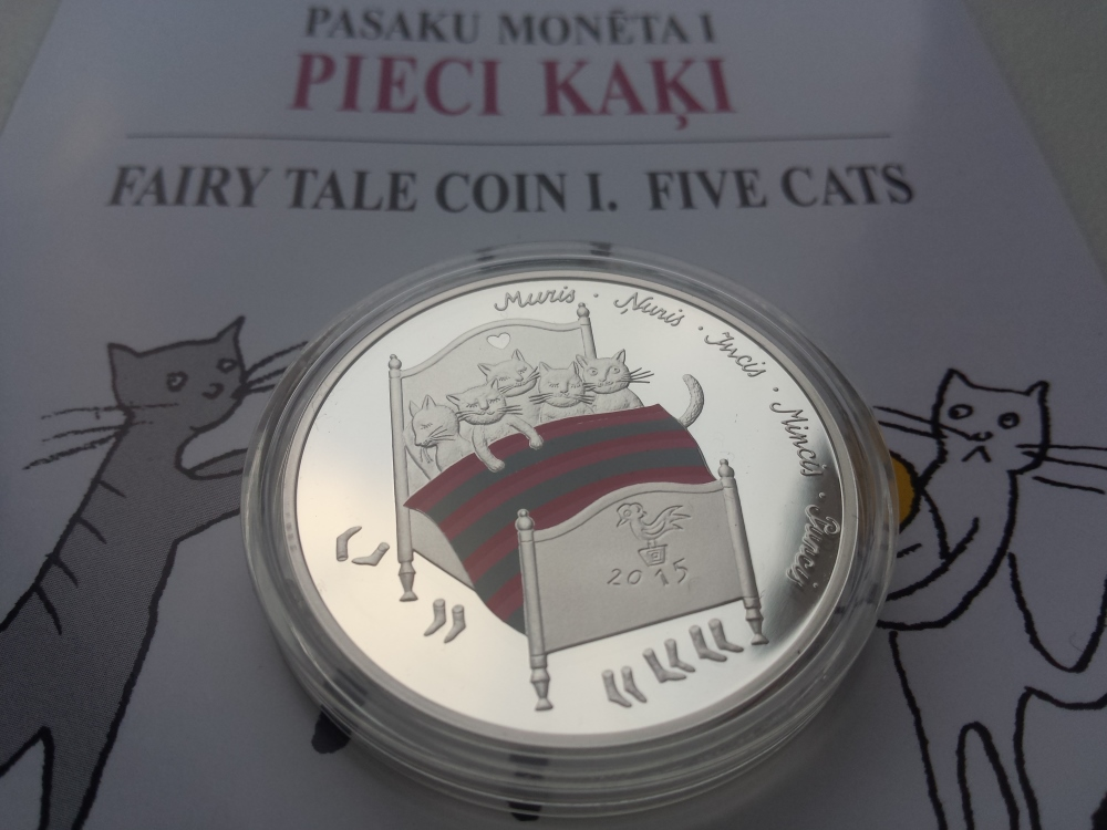 Latvia Five cats coins