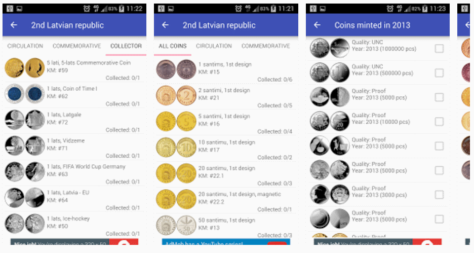 coins of latvia app catalogue